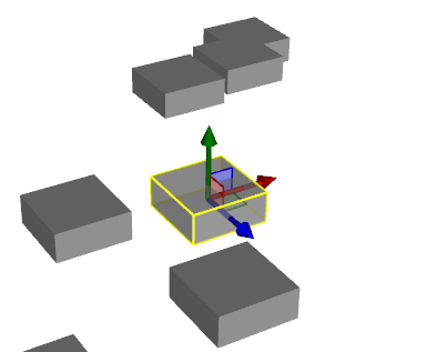 Model mover to move 3D models in the 3D scene