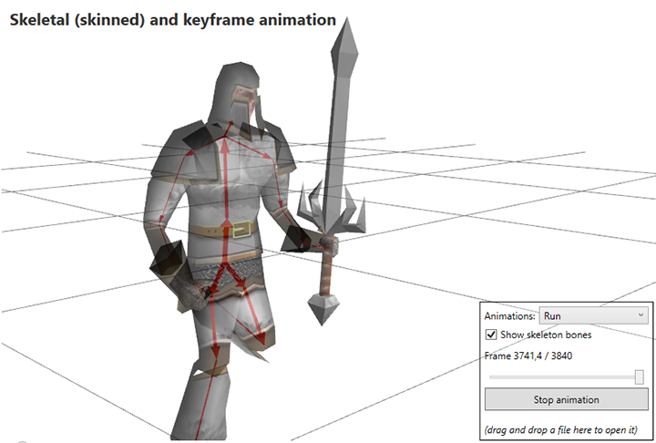 Skeletal animation with Ab3d.PowerToys