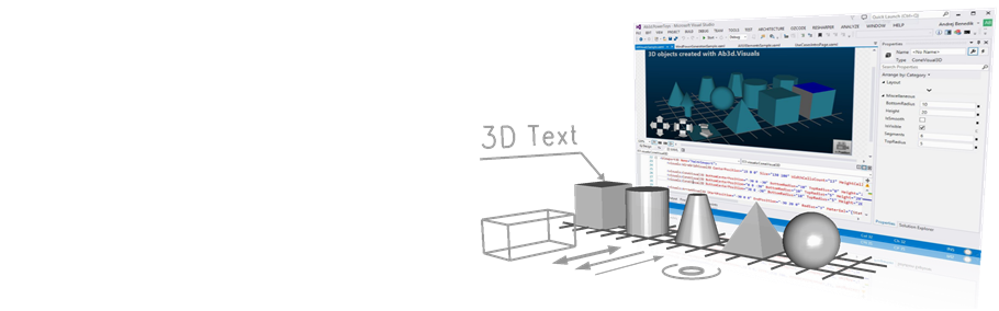 Ab3d.PowerToys is the best WPF 3D toolkit
