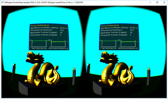 Ab3d.DXEngine rendering for Oculus Rift