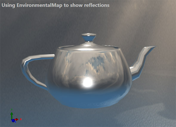 Rendering DirectX reflection in .Net with Ab3d.DXEngine