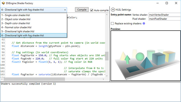 Real-time shader editor in Ab3d.DXEngine
