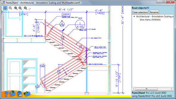 Drawing created in AutoCad and exported as metafile