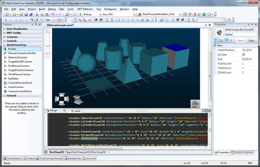 Ab3d.PowerToys - All 3D models in Visual Studio Designer