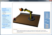 robot arm 3D model shown in Viewer3ds