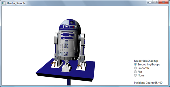 R2D2 3D model read with Reader3ds