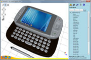 HTC phone 3D model in Viewer3ds