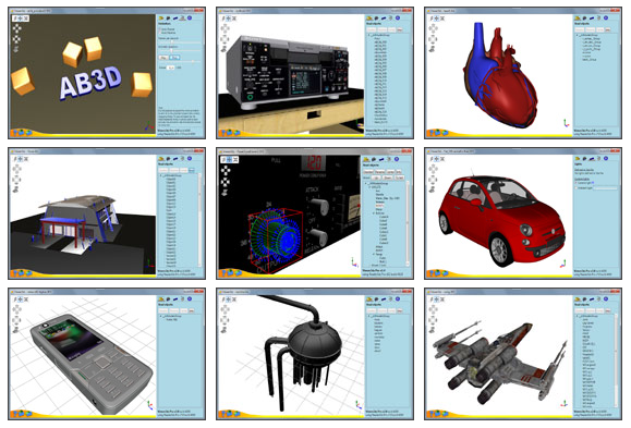 3D models read with Ab3d.Reader3ds library