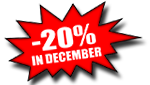 20% discount to all products until the end of the year